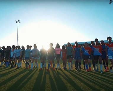 The FFK Curacao women's football team is on the rise.