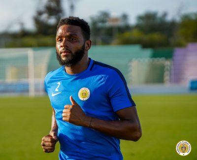 A FFK curacao national men's team player, during an intense week of training.