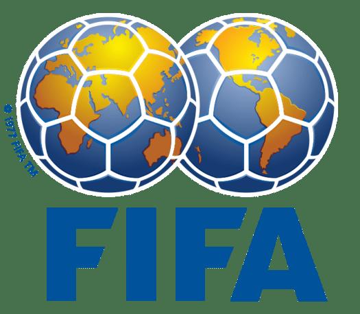 The FIFA, international federation of association football logo.
