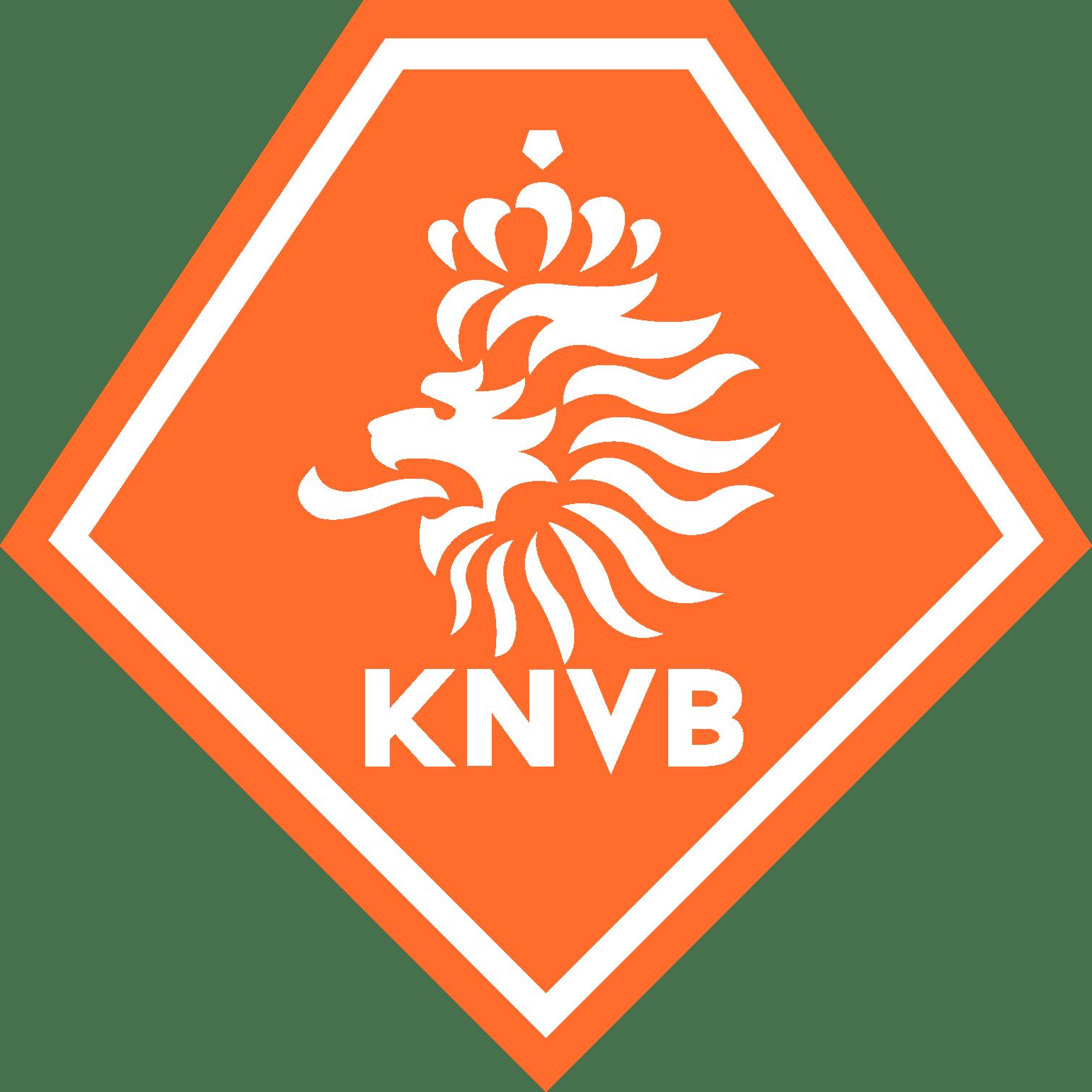 The KNVB, koninklijke nederlandse voetbalbond, dutch federation logo.