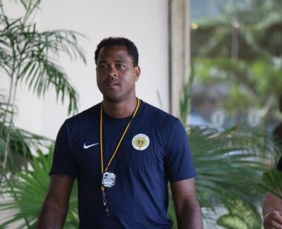 The new football manager of FFK, Patrick Kluivert.