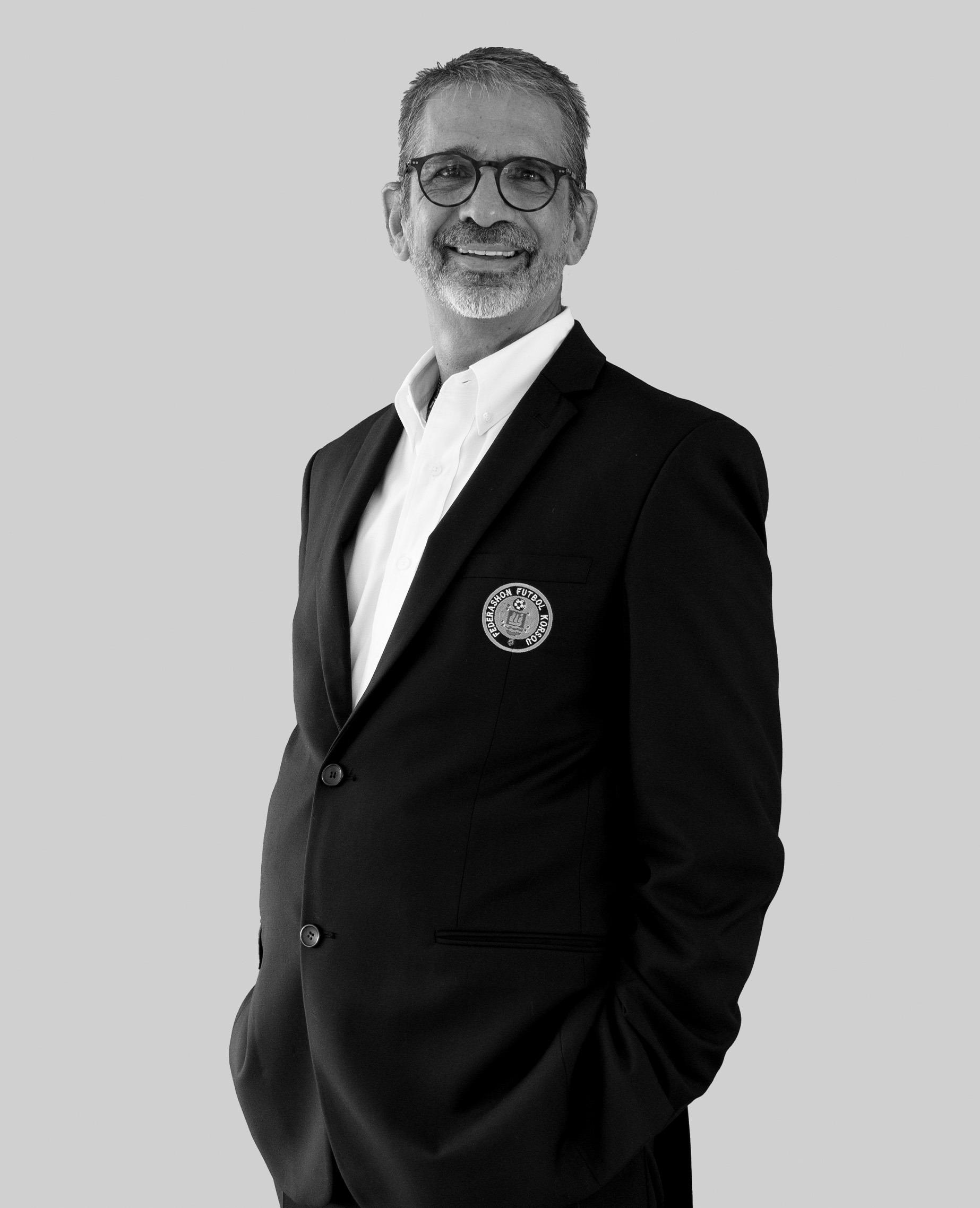 Shaheen Elhage, the president of Curacao Football Federation.